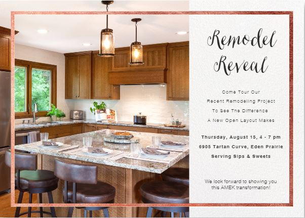 Remodel Reveal Invite August 2019